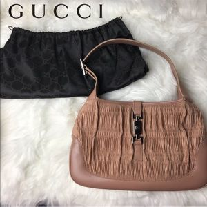 GUCCI Pleated Jackie-O Hobo Bag RARE